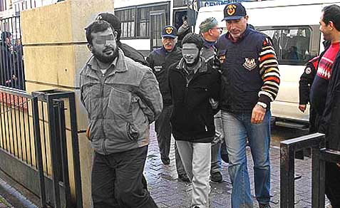 Al Qaeda suspects captured in early 2013 in Turkey.