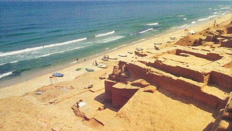 The Anthedon, Gaza's ancient port, dates back to the eighth century B.C., when Gaza was a major Philistine city