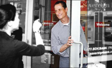 A voter telling resurrected mayoral candidate Anthony Weiner what she thinks.
