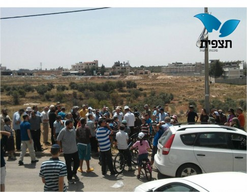 Road protest near Beit El