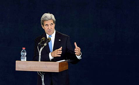 U.S. Secretary of State John Kerry in Tel Aviv.