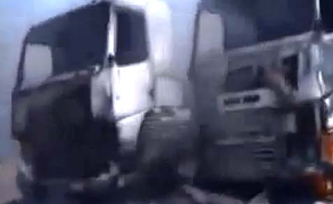 Hezbollah Convoy Takes A Beating from Rebels
