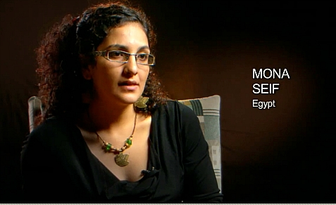 Mona Seif, nominated for Human Rights Award despite supporting and promoting terror against Israel.