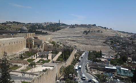 A view of Mount of Olives.