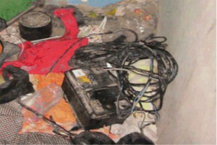 Improvised explosive device found when security personnel arrested a Hamas cell planning to kill an Israeli