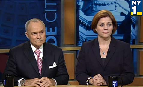 The shape of things to come? Will Republican Ray Kelly debate Democrat Christine Quinn in the mayoral finals?