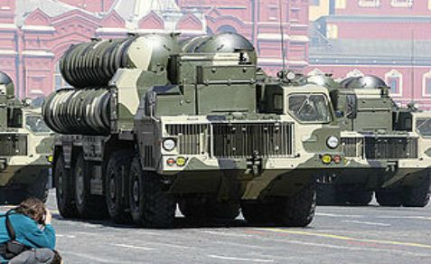 Russia shows off its S-300 anti-aircraft missile system at a military parade in Moscow