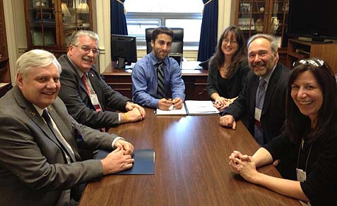 Happier days: Evesham school board members meeting with NJ Congressman Robert E. Andrews' staff. Rosemary Bernardi is third from the left.
