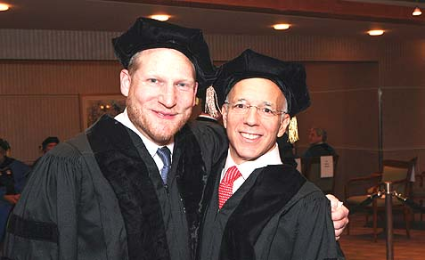 Nefesh B'Nefesh founders, Tony Gelbart & Rabbi Yehoshua Fass, received honorary doctorates from Yeshiva University.