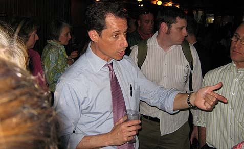 Anthony Weiner at a recent meetup.
