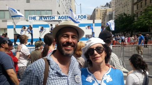 Yishai and Mom at Israel Day Parade