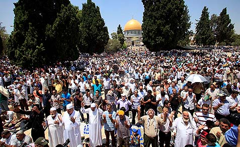Thousands of Arab worshippers are allowed to pray on Temple Mount any time, but start a riot when a Jew dares to close his eyes up there.