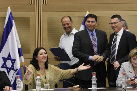 Danny Danon (blue shirt) in the Knesset