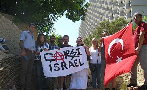 Israelis protesting in solidarity with Turkey.