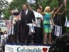 "Republican mayoral hopeful John Catsimatidis riding the ""Greeks & Jews"" platform at the Celebrate Israel Parade."