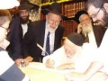 Rav Kanievsky with Rabbi Abramov