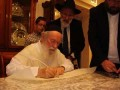 Rav Zilberstein shlita with Rabbi Abramov and the sofer