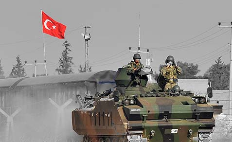 In May, Turkish forces fired back several times at Syria.