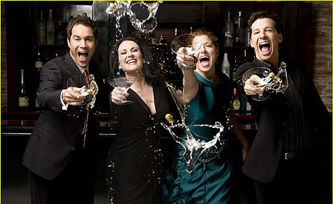 "In the sitcom ""Will and Grace,"" homosexuals are portrayed as completely normal in every way as heterosexual."