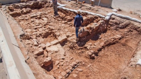 Newly-discovered section of an ancient highway that led from Yafo (Jaffa) to Jerusalem during the Roman Empire