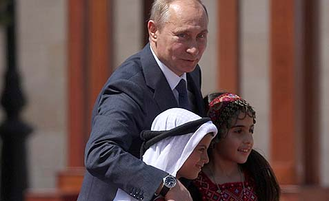 Russian President Vladimir Putin with friends.