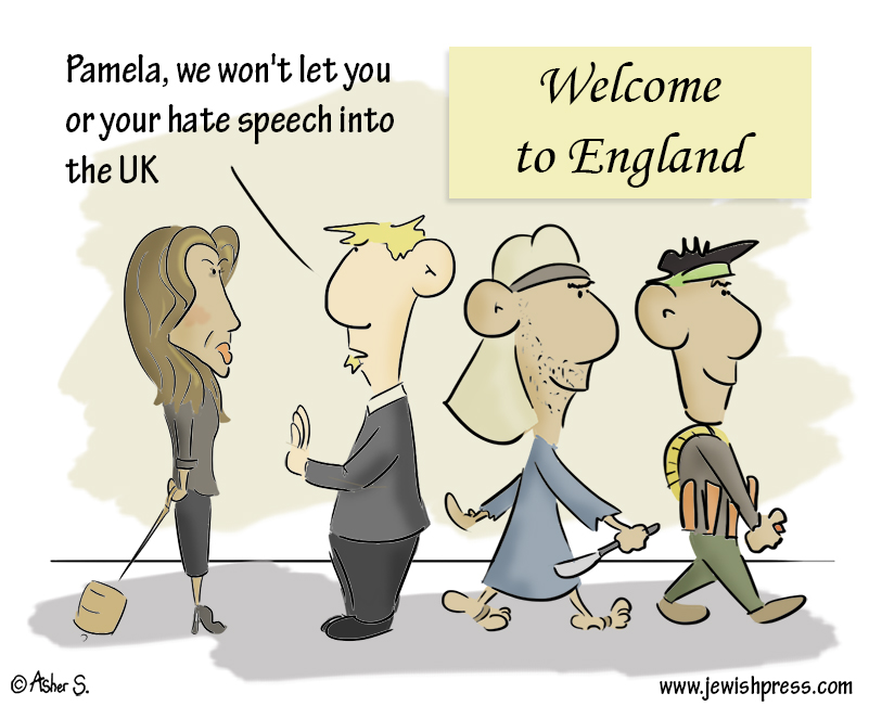 Pamela Geller in the UK