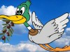 peace duck-flying