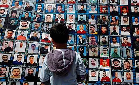 Arab child is inspired by his 'heroes': imprisoned terrorists.
