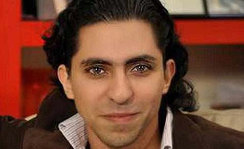 Raif Badawi has been sentenced to seven years in jail and 600 lashes (Twitter)