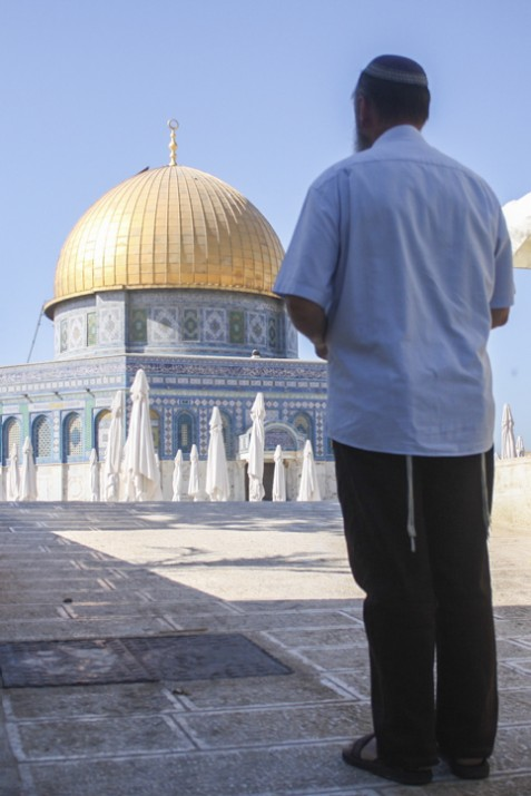 religious Jews are visiting the Temple Mount
