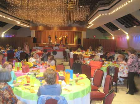 Cuban Hebrew Congregation's Mexican theme sisterhood luncheon.