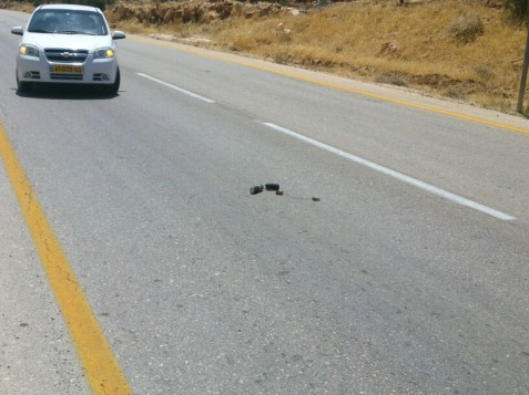 IED on Binyamin Road