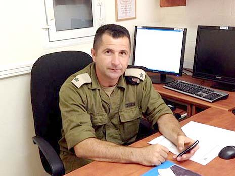 Maj. Tariq is responsible for facilitating all passages through the Erez Crossing. Photo credit: IDF