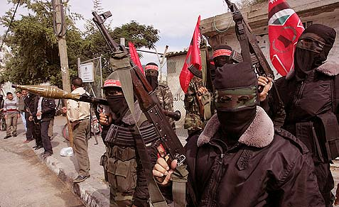 Democratic Front for the Liberation of Palestine (DFLP) masked gunmen.