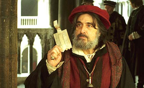 Al Pachino as Shylock.