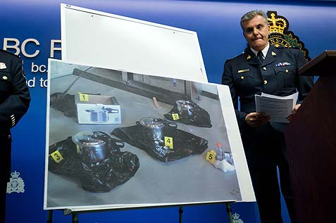 THE CANADIAN PRESS/Darryl DyckRCMP Chief Supt. Wayne Rideout during a news conference to announce terrorism charges in Surrey, B.C., on Tuesday.