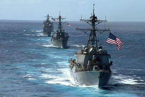 Navy destroyers carrying guided missile are being moved closer to the Syrian shore.