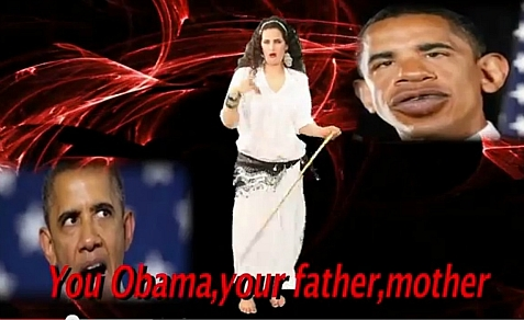 Egyptian belly dancer Sama Al Masry ridicules President Obama in a music video
