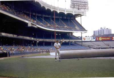 Ron Blomberg poses for Irwin Cohen at Yankee Stadium in 1973.