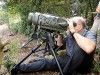 Israeli Defense Minister Moshe (Bogie) Ya'alon seen looking through binoculars during a tour of the IDF Northern front. On Wednesday he warned that the Syrian conflict will not end even after Assad's fall.