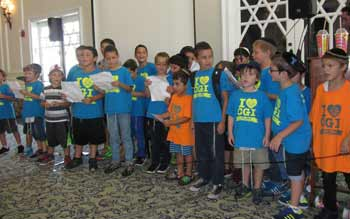 CGI campers perform at the end of summer celebration.