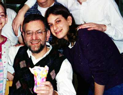 Arnold Roth with daughter Malki a few months before the Sbarro attack. (Photo courtesy Arnold Roth)