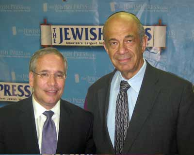 Stringer (left) is pictured with Jerry Greenwald, managing editor of The Jewish Press.