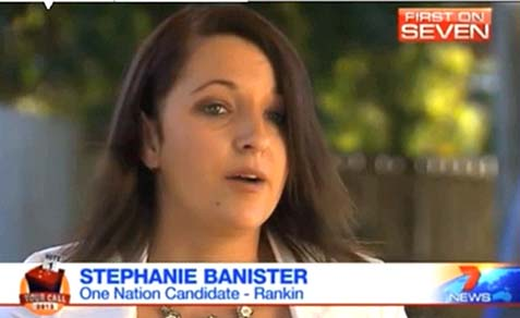 Stephanie Banister, 27, Australian politician, not well versed in current events.