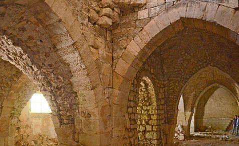 Part of an enormous Jerusalem hospital building dating to the Crusader period from the years 1099-1291