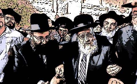Newly elected Sephardic Chief Rabbi Yitzhak Yosef was surrounded by security and hundreds of supporters when he arrived at the Kotel.