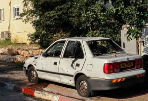 The Katyusha missile that slammed into Kibbutz Gesher HaZiv caused large-scale property damage