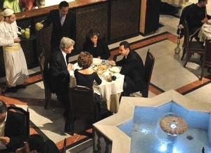 The Kerrys and the Assads dined together at the Naranj Restaurant in the old city of Damascus in 2009, a reminder that some of those now most fervently anti-Bashar were also until recently among his most avid apologists.