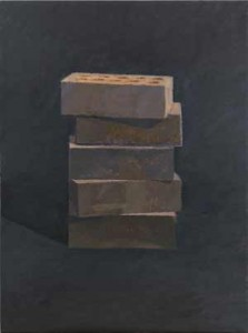Stack (2013), [24 x 18] oil on linen by Ron Milewicz. Courtesy Elizabeth Harris Gallery.
