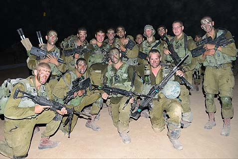 Kibbutz Hatzerim garin poses for a photo at nahal tekes